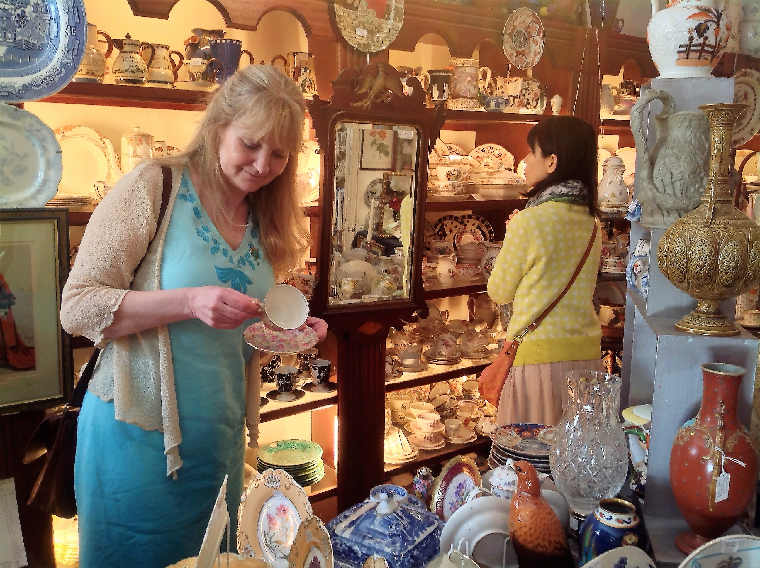 Looking for antiques with one of our guests