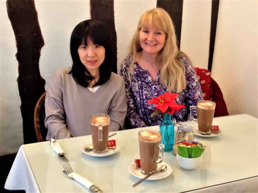 Enjoy a hot chocolate in a local tea shop