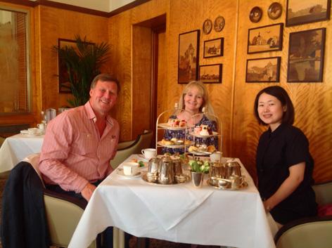 Enjoying Afternoon Tea at Bettys