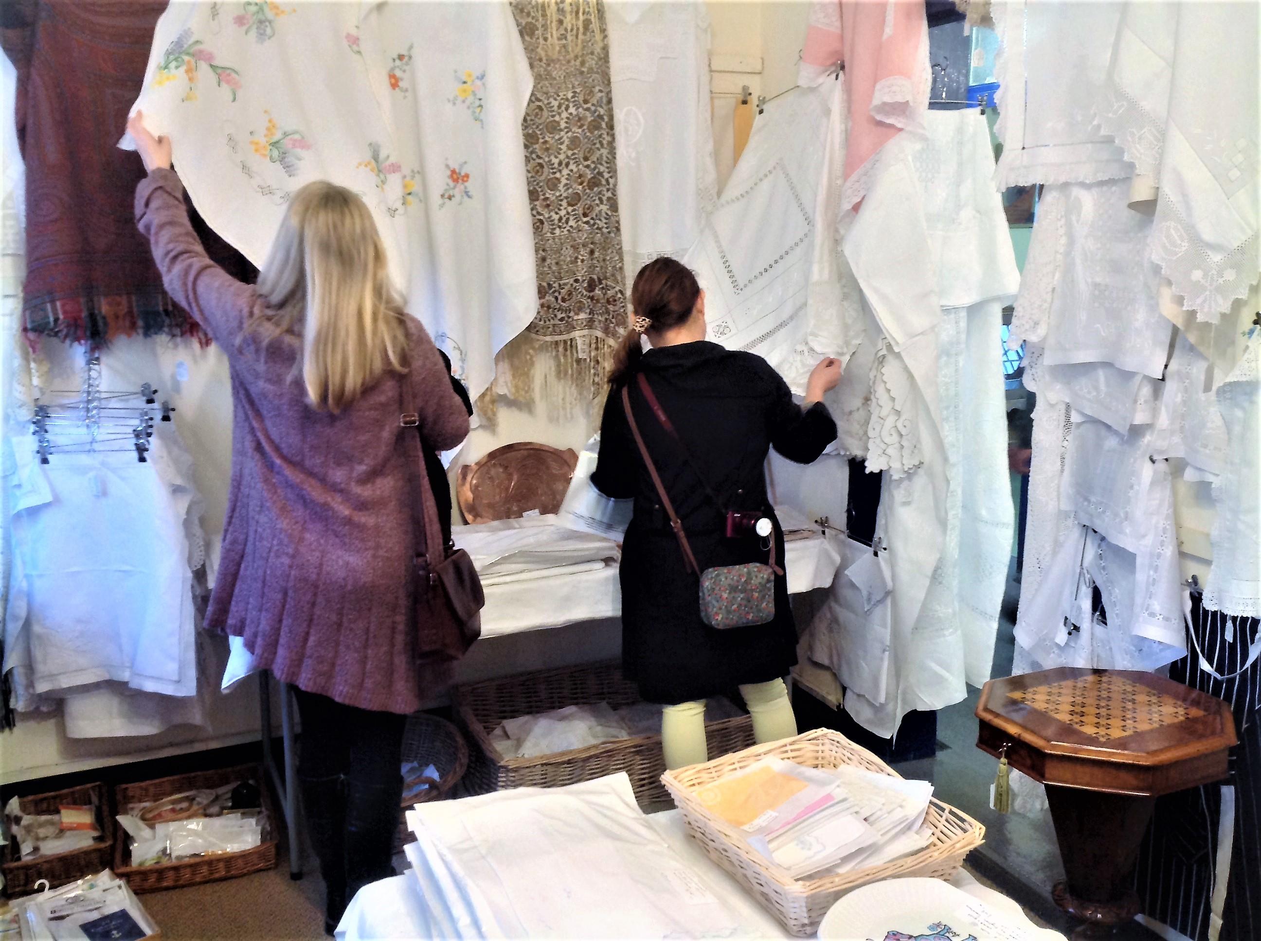 Shop for quality antique lace and linen