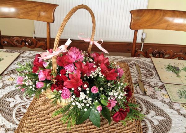 Basket arrangement.