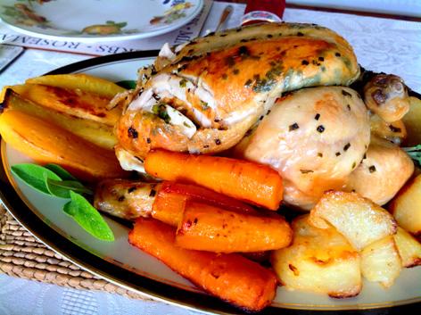 Make a tast herb roast chicken