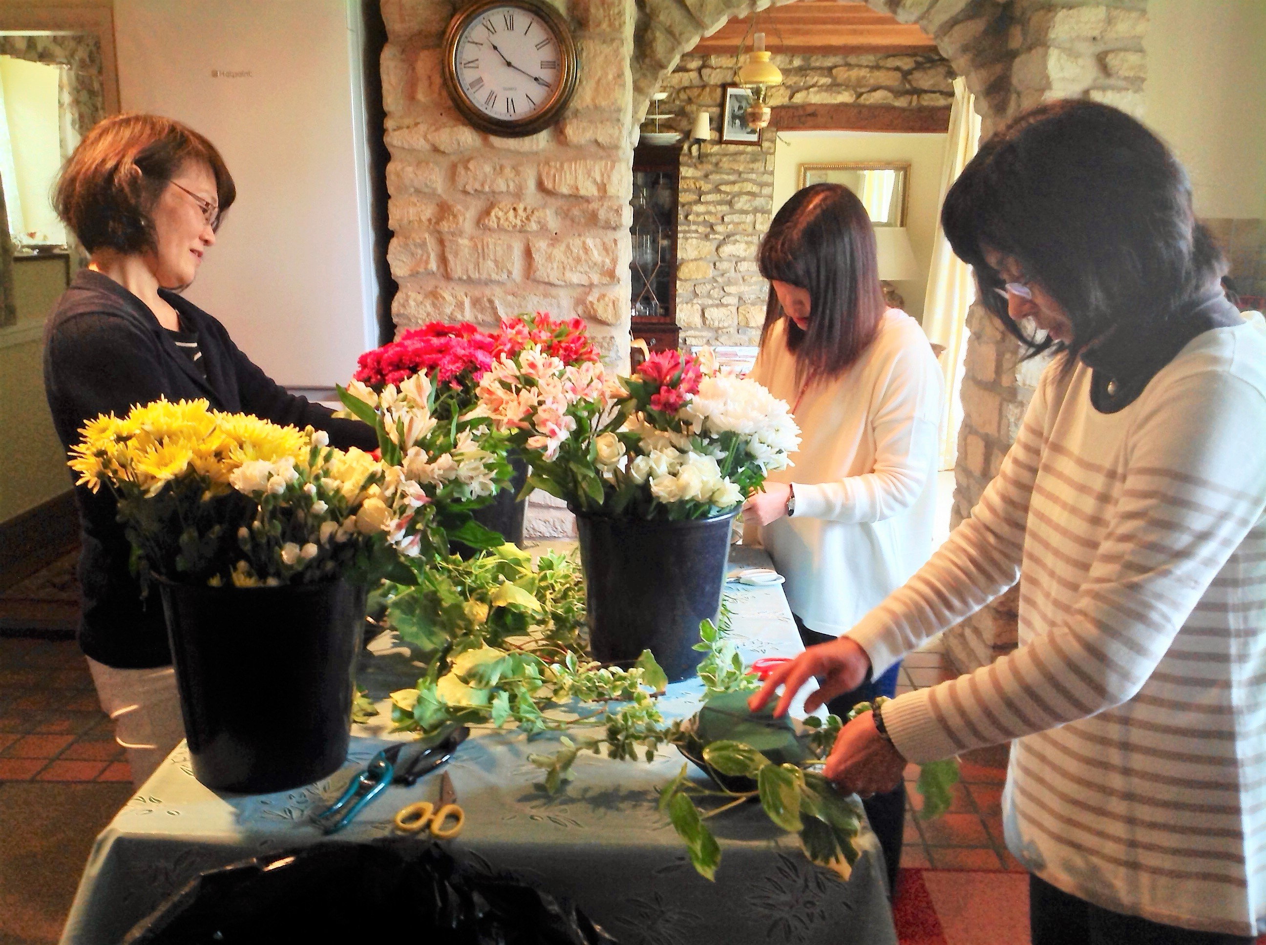 Group flower arranging