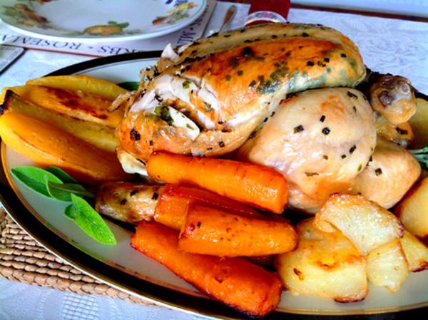 Make delicious herb roast chicken