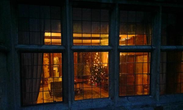 A warm glow from the inside of Rockingham Castle