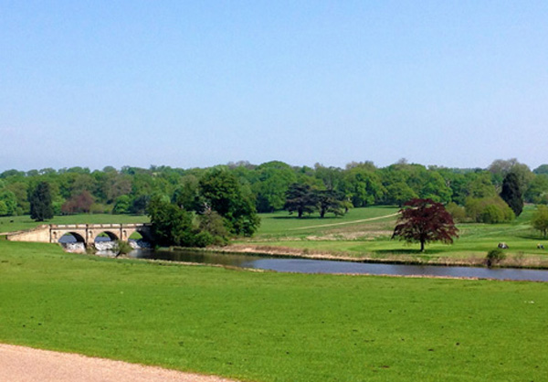 Extensive grounds at Kedleston Hall