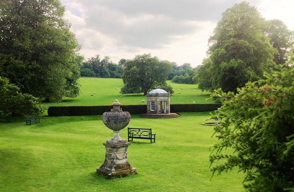 The stylish landscape garden at Kedleston Hall