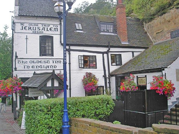 Have lunch in the oldest pub in England