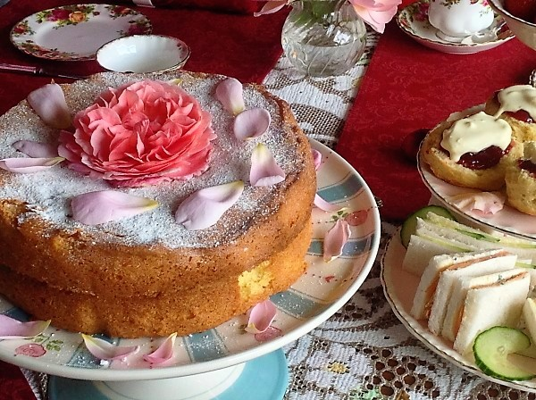 Rose Victorian sandwich cake