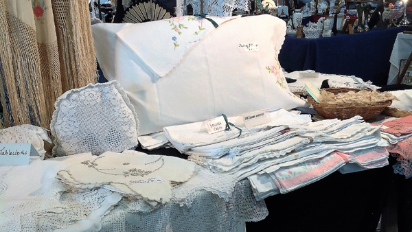 Antique linen and lace