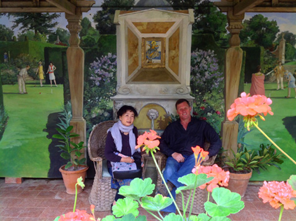 Visiting famous gardens