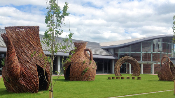 Willow structures at the Wedgwood factory