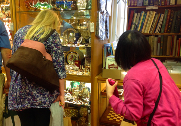 Shopping for antique tea goods