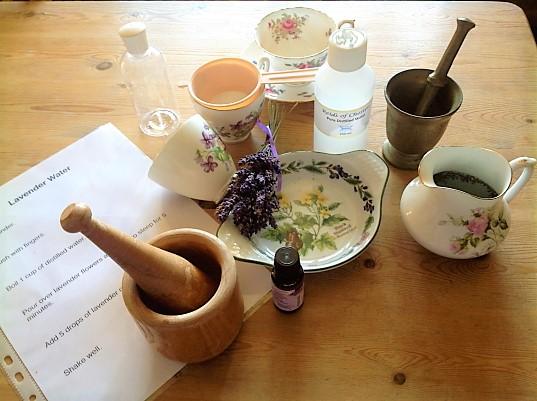 Making lavender water