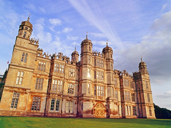 Wonderful Burghley House in the setting sun.