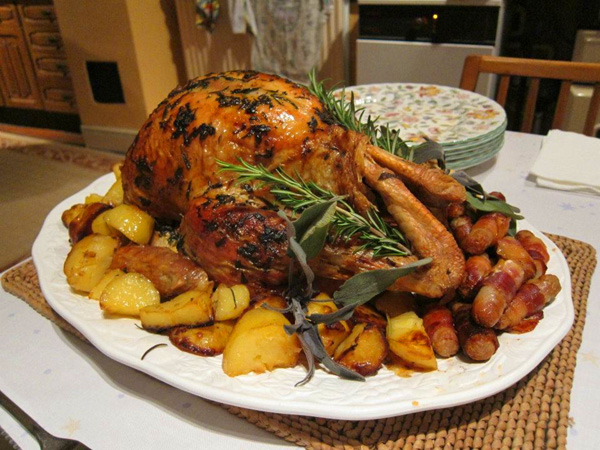 Enjoy a traditional turkey dinner with all the trimmings.