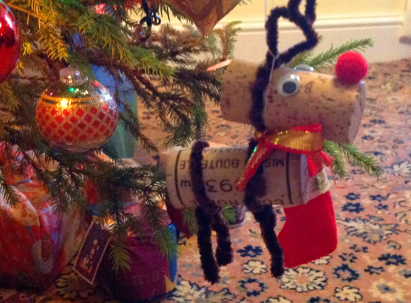 Making Christmas decorations