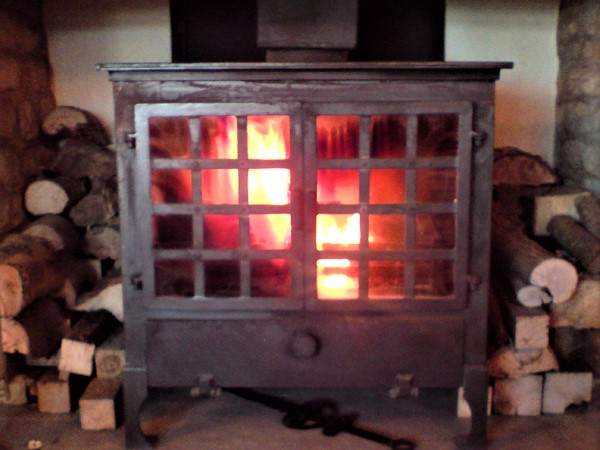 Enjoy the warmth of the wood burner