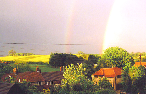 Double rainbows over Skillington