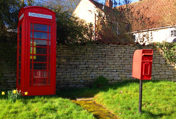 Skillington telephone and post box.