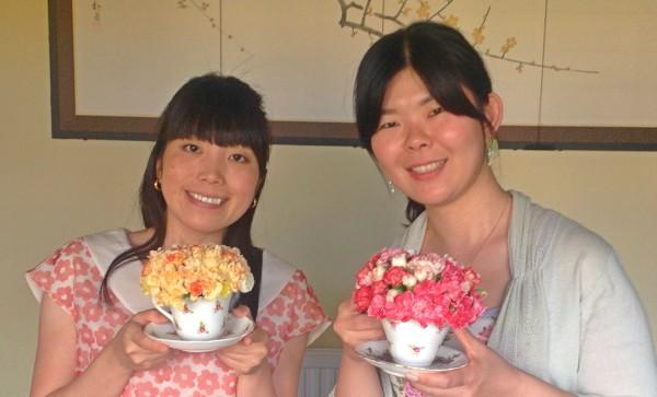 Floral teacups