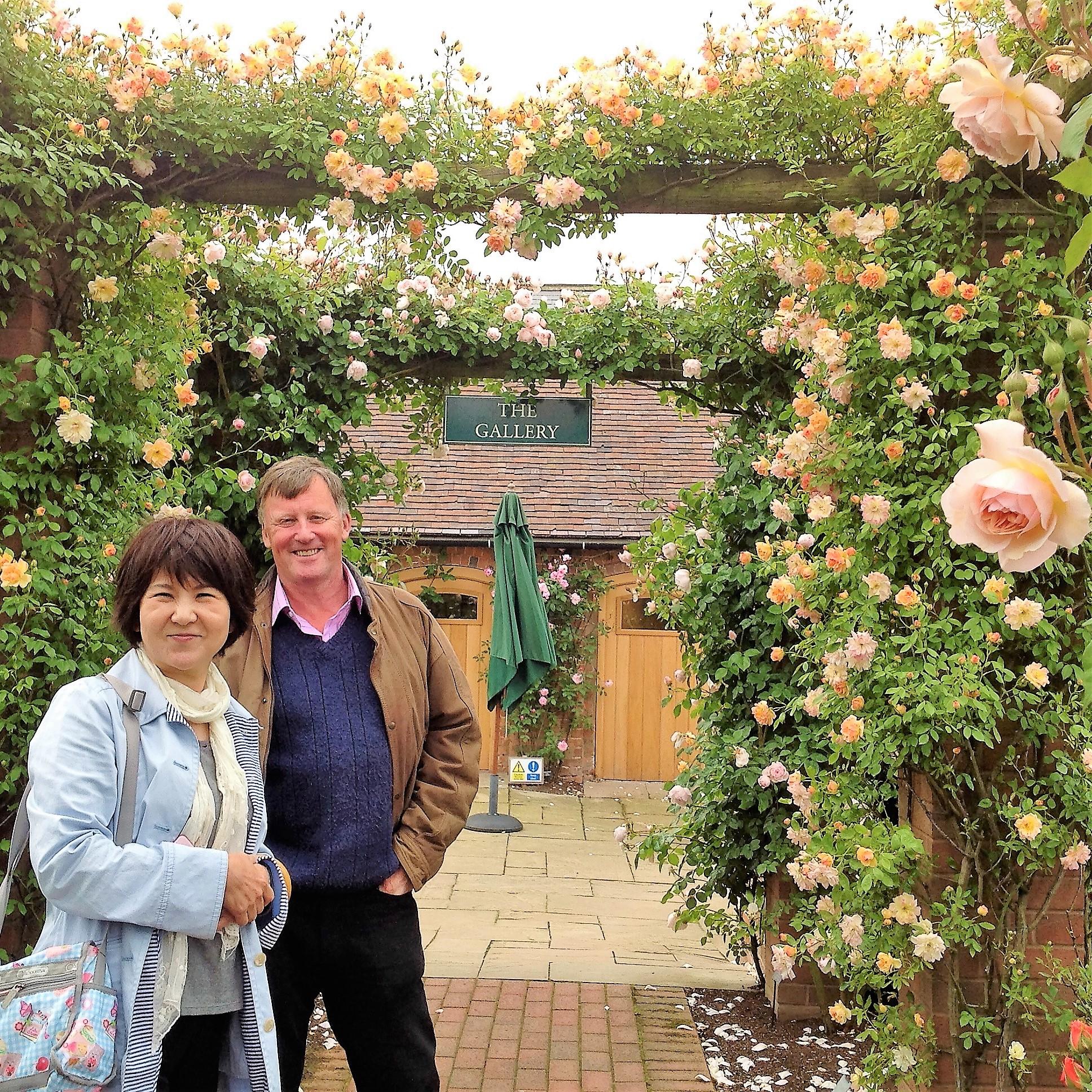 Enjoying the visit to David Austin Rose Garden