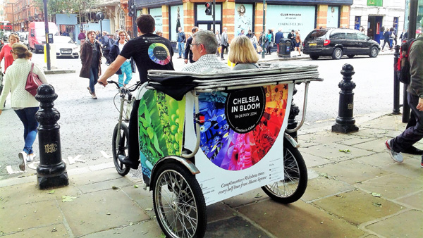 Take a Rickshaw ride around Chelsea displays